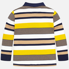 Boys Long Sleeved Striped Polo Top