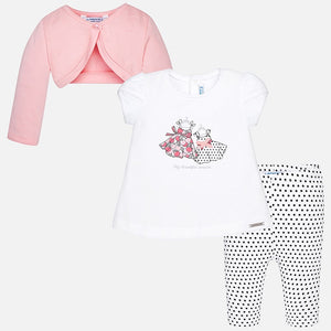 Girls Three Piece Leggings Set
