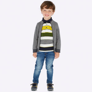 Boys Denim 5 Pocket Detailed Adjustable Waist Slim Fitting Jeans