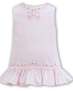 Girls Pink Embroided Shift Dress