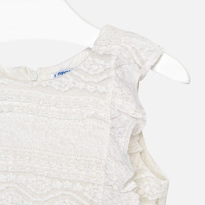 Delicate Lace Playsuit With Belt