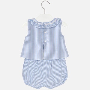 Short Striped Playsuit