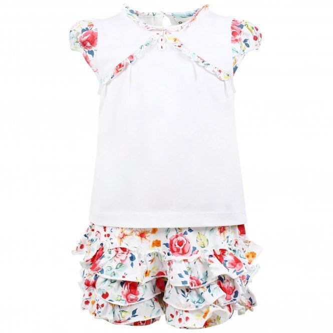 Girls Top and Frilly Shorts set