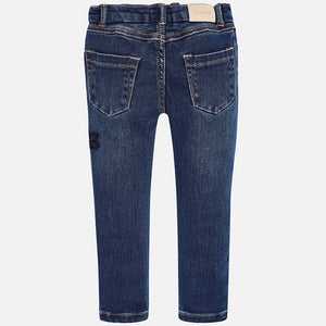 Girls Detailed Embroidered Denim Jeans
