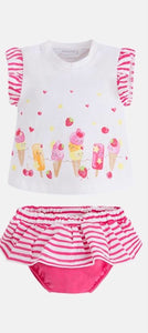 Girls Knickers and T-Shirt Set