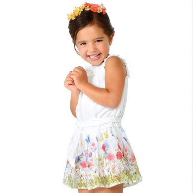 Girls Flowered Chiffon Playsuit