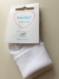 Kinder Double Roll Top Baby Socks