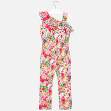 Girls Floral Print Off the Shoulder Playsuit with Ruffle Detail Neckline and Elasticated Waist for Comfort