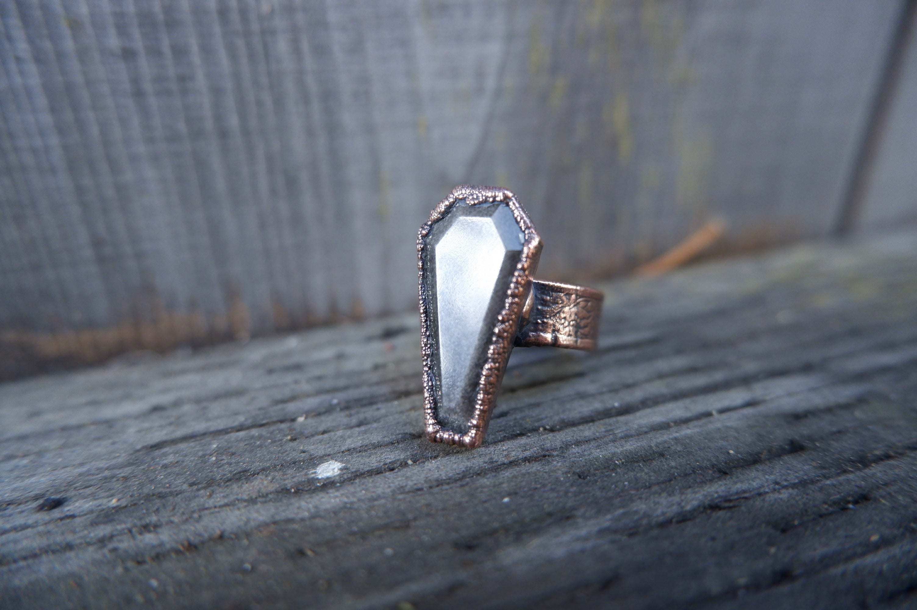 Light Sheen Coffin Ring