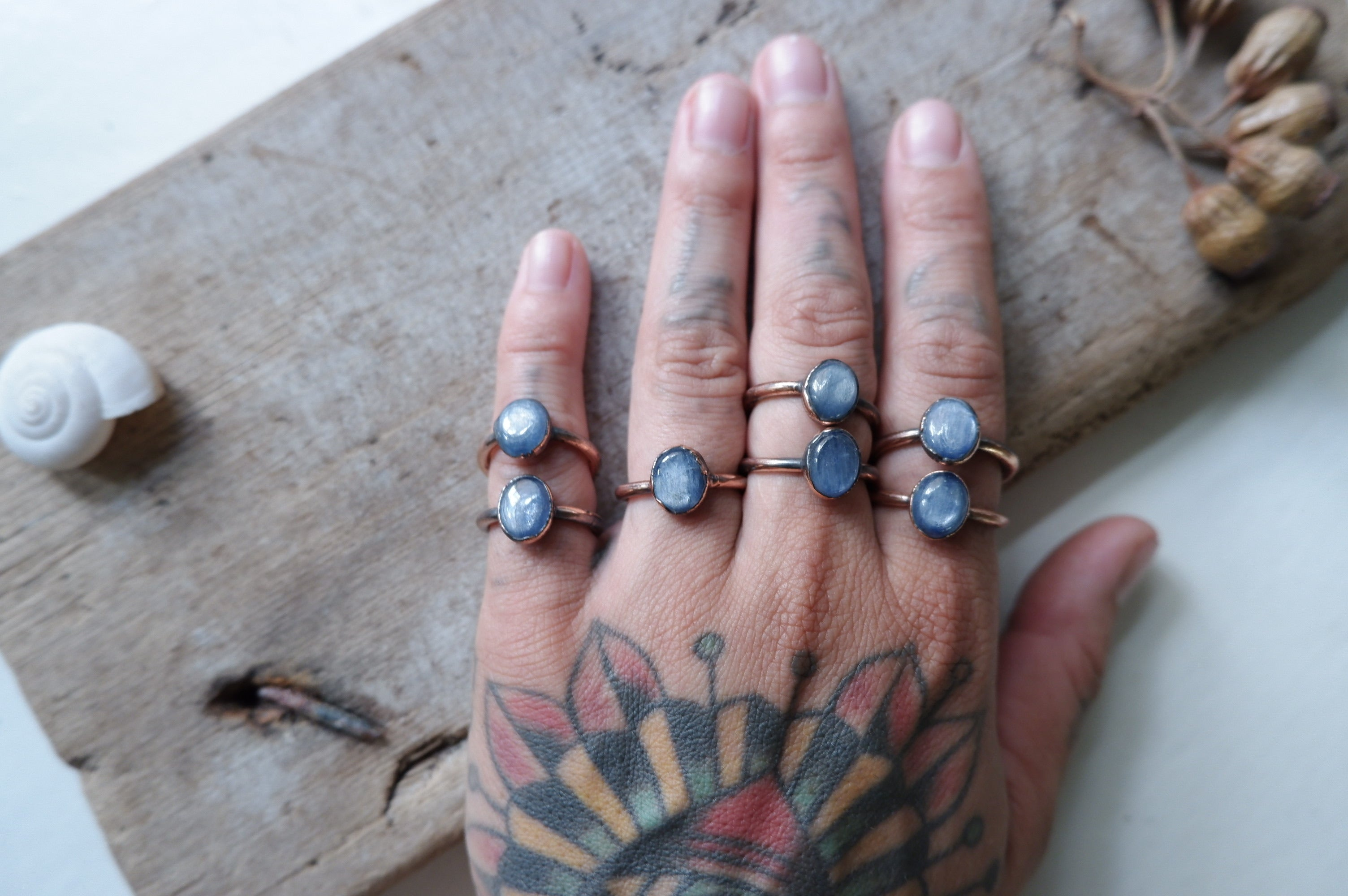 kyanite rings