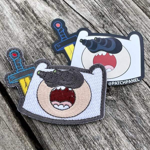 Adventures in the Dark Patch + Sticker Embroidered Patch PatchPanel