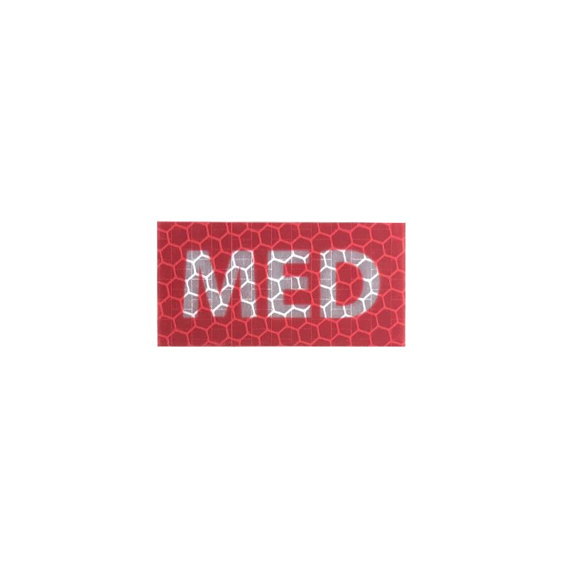Micro MED Tag - Red - Hi Vis HiViz Patch PatchPanel