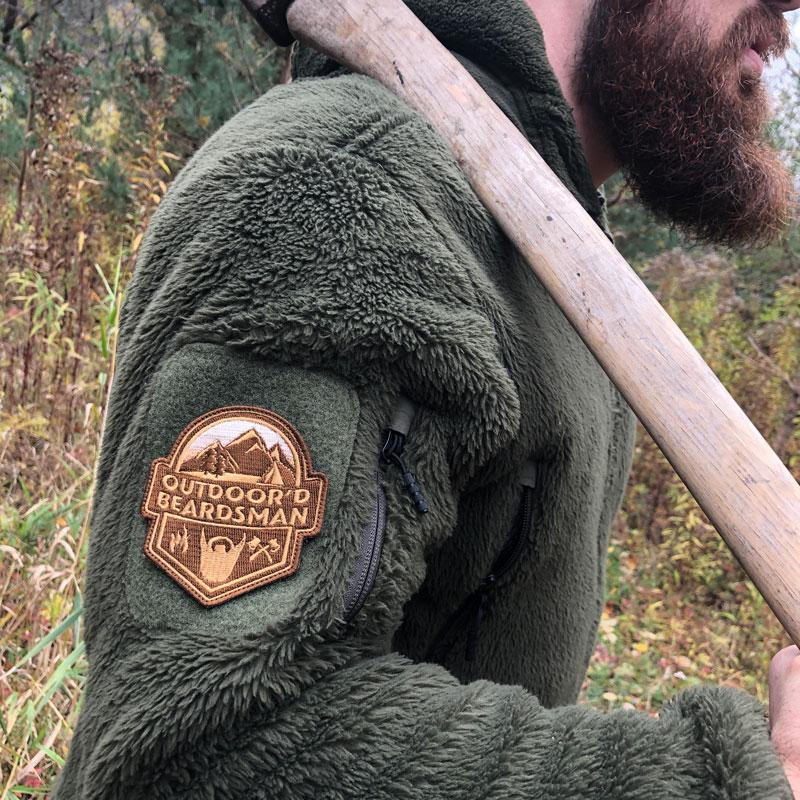 Outdoor'd Beardsman Embroidered Patch PatchPanel