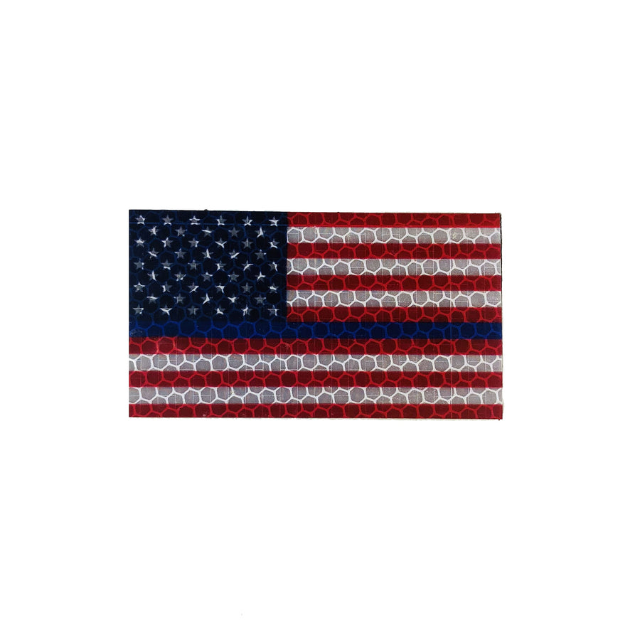 US Flag - Full Colour Thin Blue Line - Hi Vis HiViz Patch PatchPanel