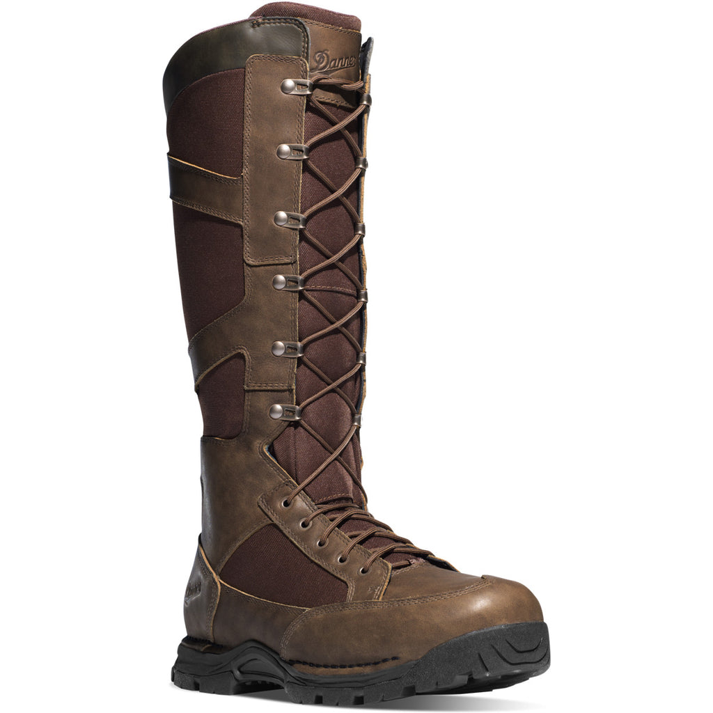 "Danner 45033 Pronghorn Snake Boot Side-Zip 17"" Brown"