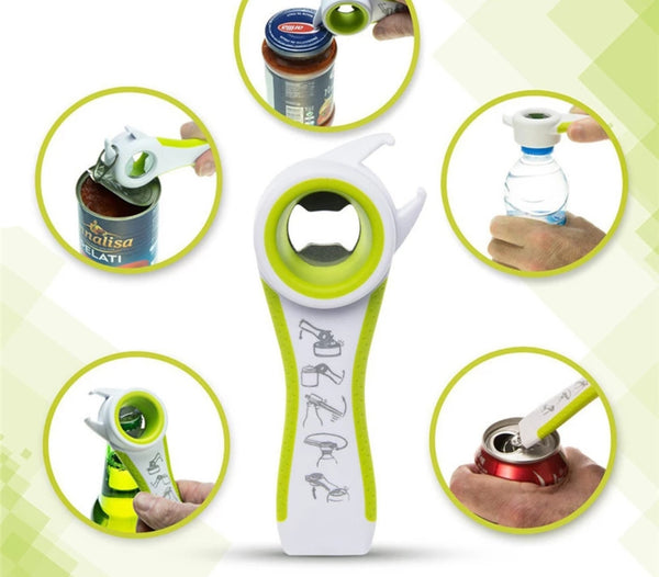 Multifunction 5 in 1 bottle opener