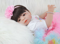 55cm Full Silicone Reborn Girl Baby Doll