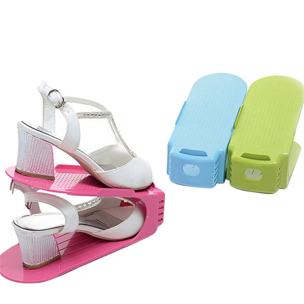 Display Rack Shoes Organizer Space-Saving