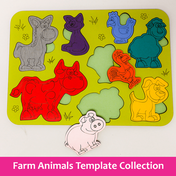 Farm Animals Template Collection