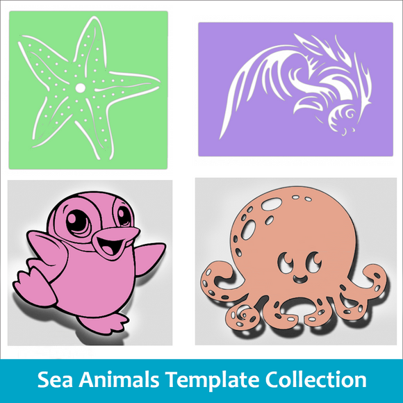 Sea Animals Template Collection