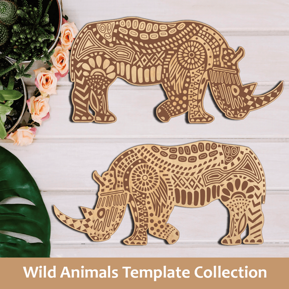 Wild Animals Template Collection
