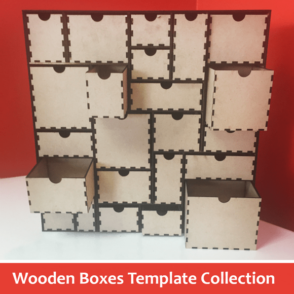 Wooden Boxes Template Collection