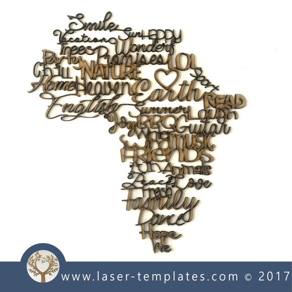 Laser Cut English Africa Wall Decoration Template, Download Vectors.