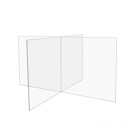 4-way Clear Acrylic Table Divider