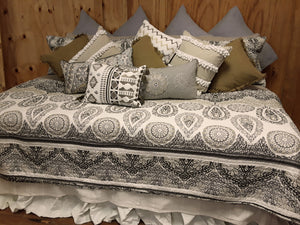 Grey Paisley Bedding Collection