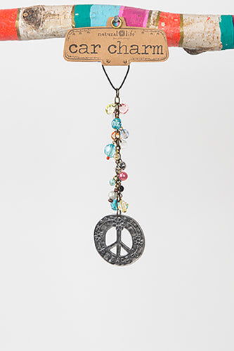 Peace Sign Car Charm