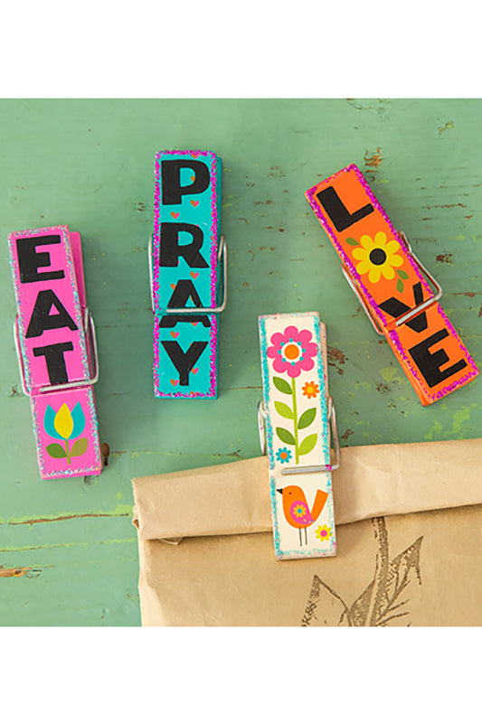 Eat Pray Love Magnetic Happy Clips