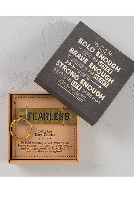 Fearless Boxed Key Chain