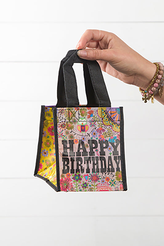 Happy Birthday Small Recycled Gift Bag