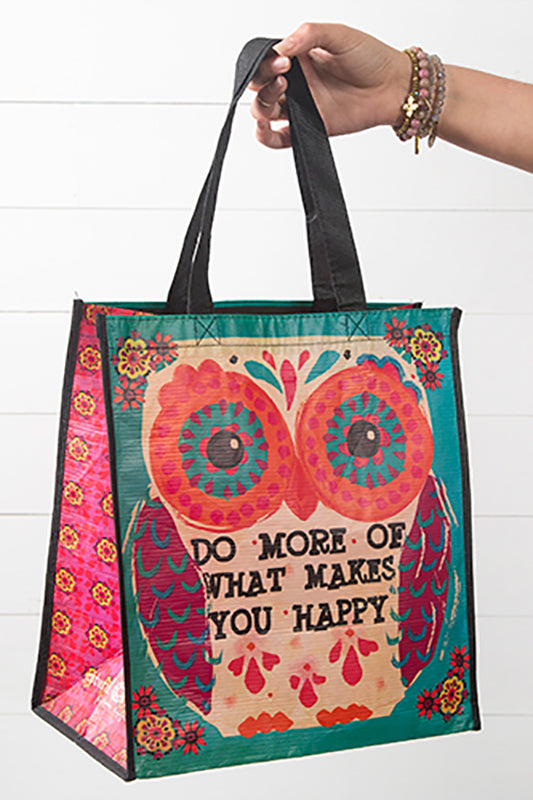What Makes You Happy Large Recycled Gift Bag