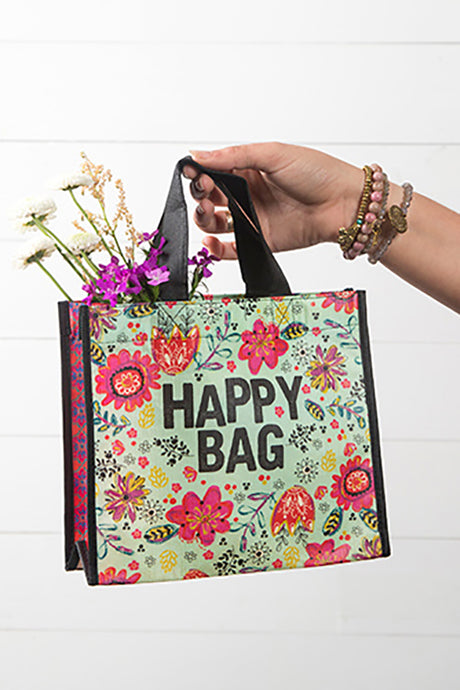Turquoise Medium Recycled Happy Gift Bag