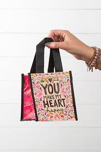 """You Make My Heart Happy"" Small Recycled Gift Bag"