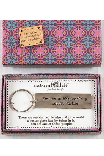 You Make the World a Better Place Boxed Key Chain