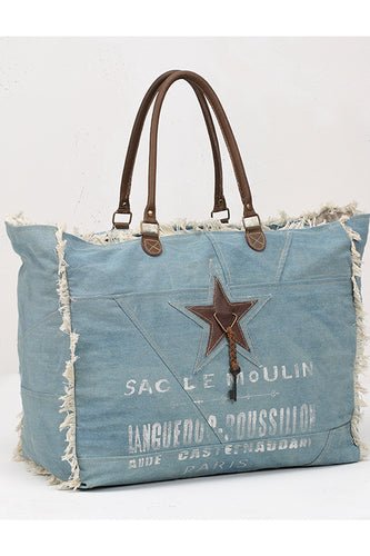 Star on Denim Weekender Tote