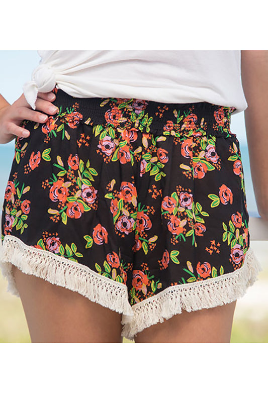 Back Blooms Lounge Shorts