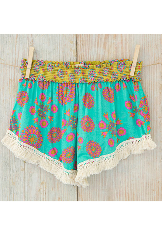Turquoise and Green Lounge Shorts