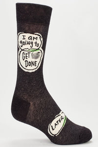 I Am Going to Get Stuff Done Later Men's Socks