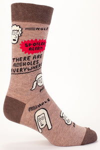 Spoiler Alert A-holes are Everywhere Men's Socks