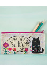 Be Happy Today Recycled Zip Pencil Pouch