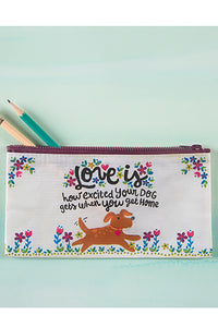 """Love Is..."" Recycled Zip Pencil Pouch"