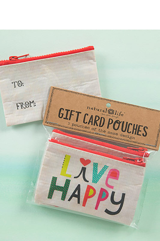 Live Happy Gift Card Pouch
