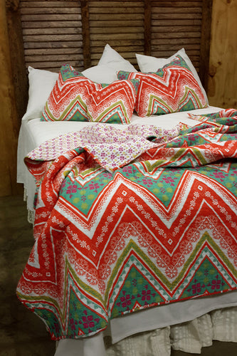 Bright Chevron Fiji Bedding Set