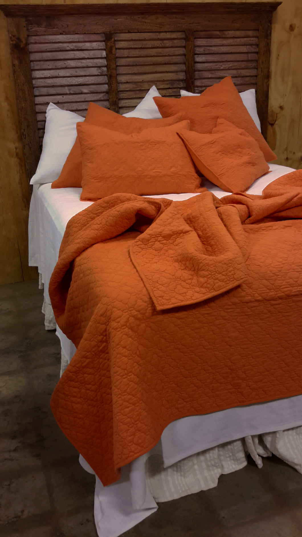 Solid Orange Color Bedding Set