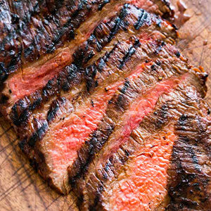 grilled marinated sliced flank steak