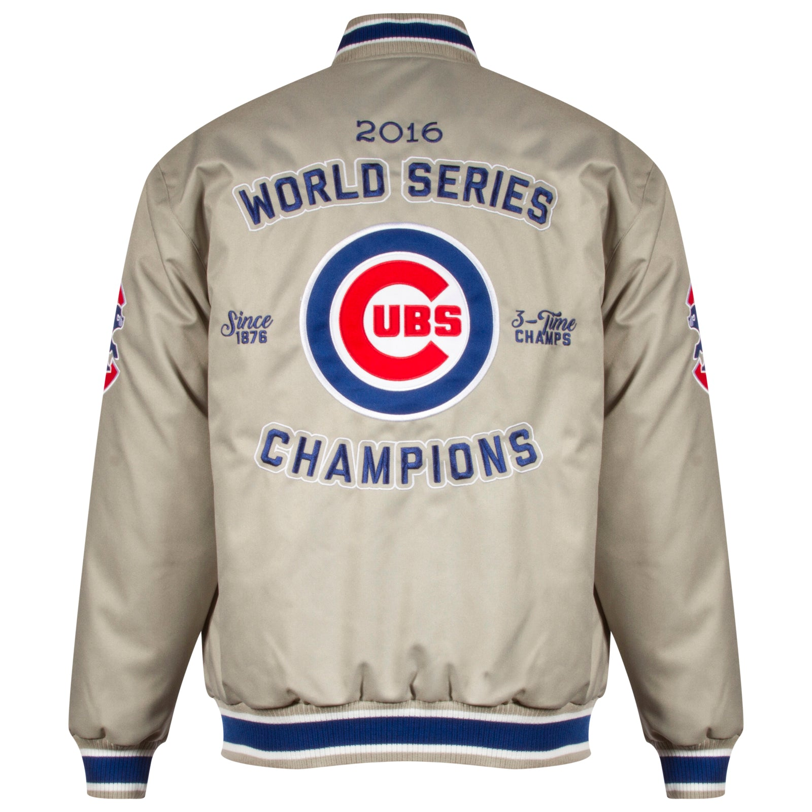 LOGO  /& STRIPES BUTTON CHICAGO CUBS 2016 WORLD SERIES CHAMPIONS