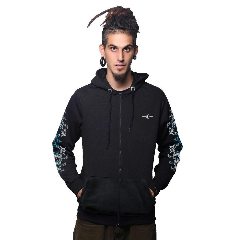 Altering Pattern Cotton Hoodie